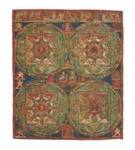 a_thangka_with_four_mandalas_of_vajravali_tibet_15th_century_d5594008h
